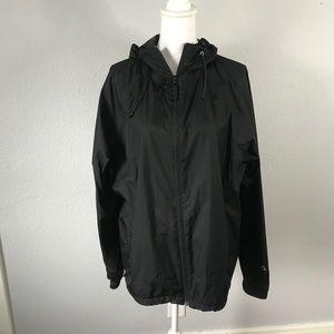 Alpine Design Black Rain Jacket Coat